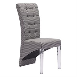 Zuo Waldorf Dining Chair in Houndstooth