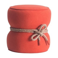 Zuo Tubby Ottoman in Orange
