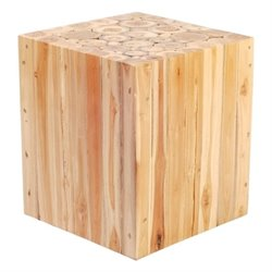Zuo Cave Table Stool in Teak