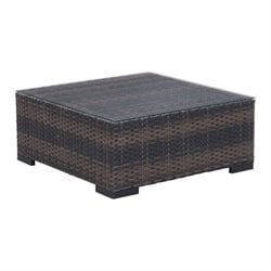 Zuo Bocagrande Outdoor Glass Coffee Table in Brown