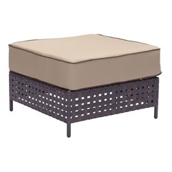 Zuo Pinery Outdoor Ottoman in Beige