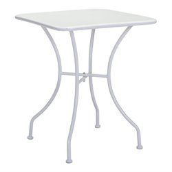 Zuo Oz Patio Dining Table in White