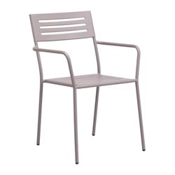 Zuo Wald Patio Dining Armchair in Taupe