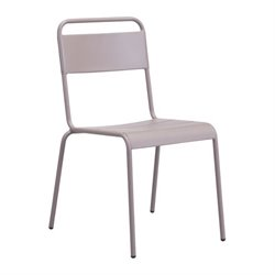 Zuo Oh Patio Dining Chair in Taupe