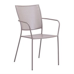 Zuo Pom Patio Dining Chair in Taupe