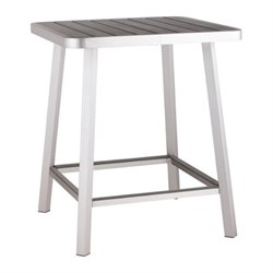 Zuo Megapolis Outdoor Pub Table in Gray