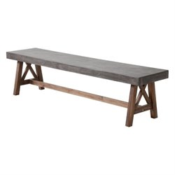 Zuo Ford Outdoor Bench in Gray