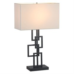 Zuo Step Table Lamp in White and Black