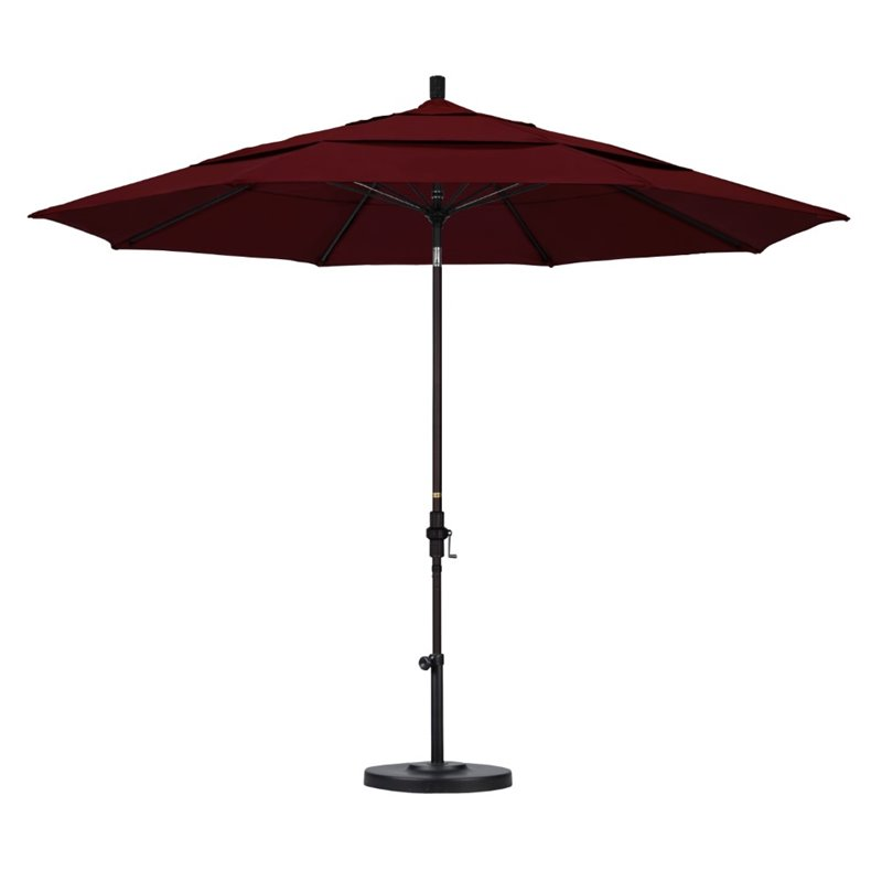 California Umbrella 11' Patio Umbrella in Burgundy