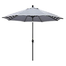 California Umbrella 7.5' Market Patio Umbrella in Navy White Cabana