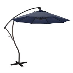 California Umbrella 9.3' Cantilever Market Patio Umbrella in Navy