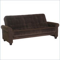 Big Tree Furniture Medina Futon Frame and Mattress in Legend Espresso Colored Fabric