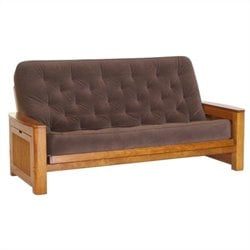 Big Tree Nina Futon in Premium Tobacco Oak