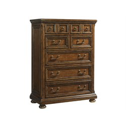 Lexington Coventry Hills Ellington 7 Drawer Chest in Autumn Brown