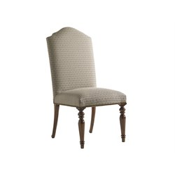 Lexington Coventry Hills Chestnut Dining Chair in Taupe and Copper