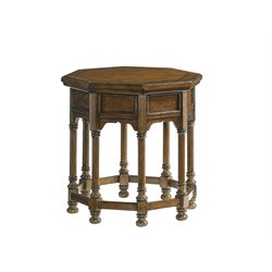 Lexington Coventry Hills Westport Octagonal End Table in Autumn Brown