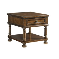 Lexington Coventry Hills Stonington End Table in Autumn Brown