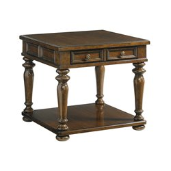 Lexington Coventry Hills Fairfield Square End Table in Autumn Brown