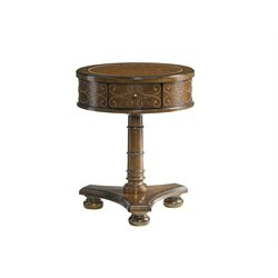 Lexington Coventry Hills Shelton Round End Table in Autumn Brown