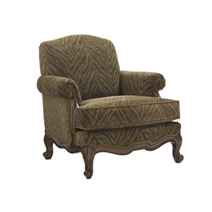 Lexington Coventry Hills Abbey Accent Chair in Dark Gray and Brown