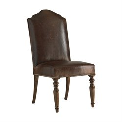 Lexington Coventry Hills Ellyson Leather Dining Chair in Brown