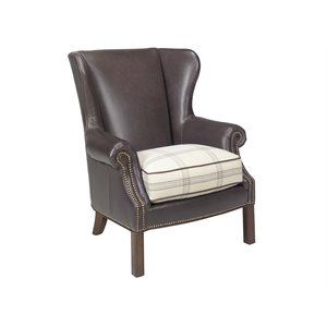 Lexington Coventry Hills Logan Leather Wingback Accent Chair