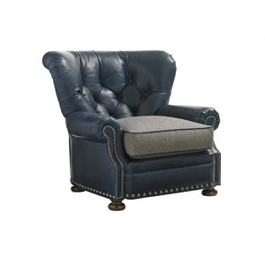 Lexington Coventry Hills Elle Leather Tufted Accent Chair in Calais