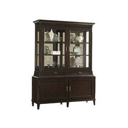 Lexington Kensington Place Grove Park Curio Cabinet in Oxford Brown
