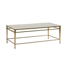 Lexington Kensington Place Millington Glass Top Coffee Table in Brass