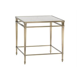 Lexington Kensington Place Maxfield Glass Top End Table in Brass