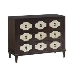 Lexington Kensington Place Winslow Mirrored Accent Chest in Brown