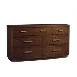Lexington Laurel Canyon Radcliff 7 Drawer Triple Dresser in Mocha