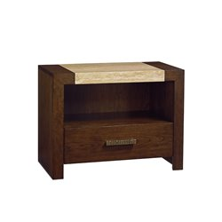 Lexington Laurel Canyon Graysby 1 Drawer Nightstand in Mocha