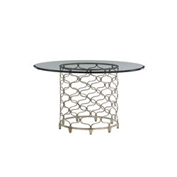Lexington Laurel Canyon Glass Top Dining Table in Silver
