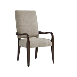 Lexington Laurel Canyon Sierra Dining Arm Chair in Ivory and Taupe