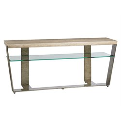 Lexington Laurel Canyon Griffith Park Console Table in Silver