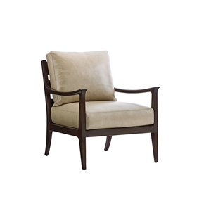 Lexington Laurel Canyon Miramar Leather Accent Chair in Slate