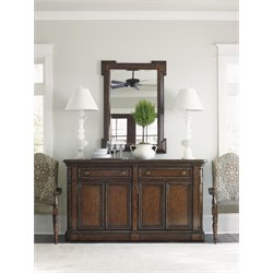 Lexington Coventry Hills Hampton Buffet with Mirror in Autumn Brown