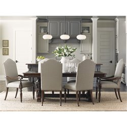 Lexington Coventry Hills Cedar Falls 7 Piece Dining Set in Brown