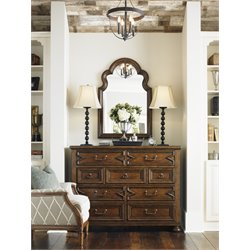 Lexington Coventry Hills Sheridan Hall Chest with Mirror in Brown