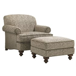 Lexington Coventry Hills Asbury Chair with Ottoman in Oakhurst