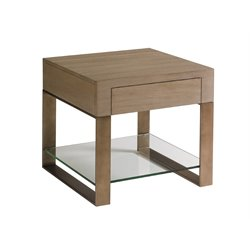 Lexington Shadow Play Empire End Table in Gray Elm