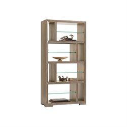 Lexington Shadow Play Windsor Bookcase in Gray Elm