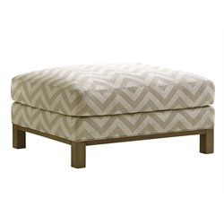 Lexington Shadow Play Chronicle Ottoman in Small Pattern White Ivory