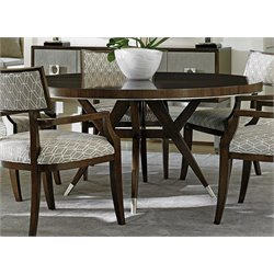 MacArthur Park Round Dining Table in Brown