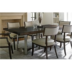 Lexington MacArthur Park Extendable Dining Table in Steel and Brown