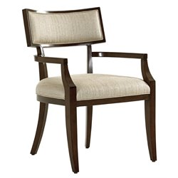 Lexington MacArthur Park Whittier Dining Arm Chair in Brown and Wheat