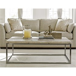 Lexington MacArthur Park Marisol Stone Top Coffee Table in Steel