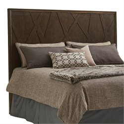 Lexington Zavala Radian Panel Headboard in Mocha Brown