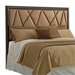 Lexington Zavala Spectrum Upholstered Panel Headboard in Mocha Brown
